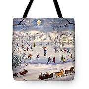 Winter Skating Tote Bag