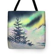Winter Skylights Tote Bag