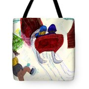 Winter Sleigh Ride Through The Tunnel Tote Bag