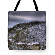 Winter Snow Storm Tote Bag