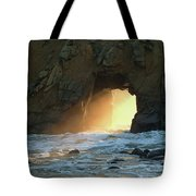 Winter Solstice Sunset In Big Sur Tote Bag