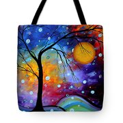 Winter Sparkle By Madart Tote Bag by Megan Duncanson