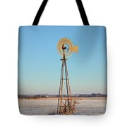 Winter Spins Tote Bag