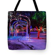 Winter Spirit At Locomotive Park Tote Bag