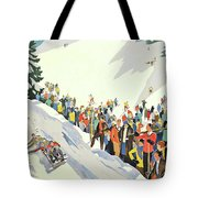Winter Sport, Mountain, France Tote Bag