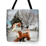 Winter Squirel Tote Bag