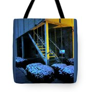 Winter Stairs Tote Bag by Guy Ricketts