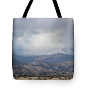 Winter Storm On Desert Mountain Tote Bag