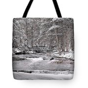 Winter Stream And Woods Tote Bag