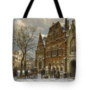 Winter Street Scene. Oudewater Tote Bag