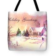 Winter Stroll Card Tote Bag