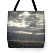 Winter Sun At Sea Tote Bag