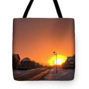 Winter Sun Glow Tote Bag