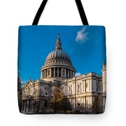 Winter Sun St Paul's Cathedral Tote Bag