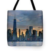 Winter Sunrise New York City Tote Bag