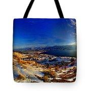 Winter Sunrise On Skaha Tote Bag