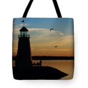 Winter Sunset At East Warf Tote Bag
