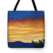 Winter Sunset In El Dorado Tote Bag