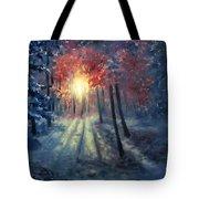 Winter Sunset Tote Bag