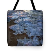 Winter Sunset On Fire Island Tote Bag