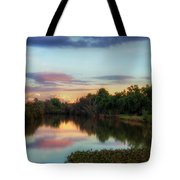 Winter Sunset On The Slough Tote Bag