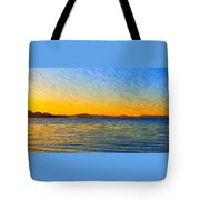Winter Sunset Over Ipswich Bay Tote Bag