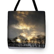 Winter Sunset, Trough Of Bowland, England Tote Bag