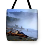 Winter Surf On Vancouver Island Tote Bag