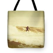 Winter Surfing At Casino Pier Tote Bag