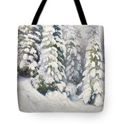 Winter Tale Tote Bag by Aleksandr Alekseevich Borisov