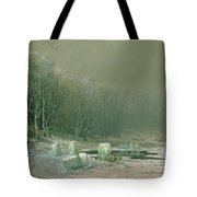 Winter The Laying Off Of Ice Tote Bag by Arseniy Ivanovich Meshchersky