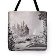 Winter Thermal Steam - Yellowstone Tote Bag