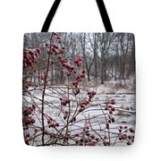 Winter Time Frozen Fruit Tote Bag