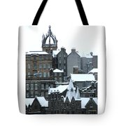 Winter Townscape Scotland Tote Bag