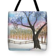 Winter Tree Landscape Tote Bag