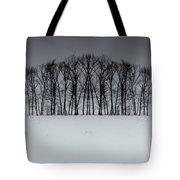 Winter Tree Symmetry Long Horizontal Tote Bag