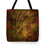 Winter Trees In Gold And Red Tote Bag