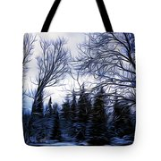 Winter Trees In Sweden Tote Bag