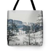 Winter Trees Solitude Landscape Tote Bag
