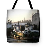 Winter Tugs Tote Bag