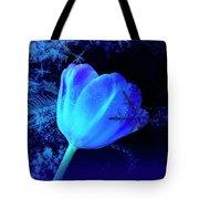 Winter Tulip Blue Theme 2 Tote Bag