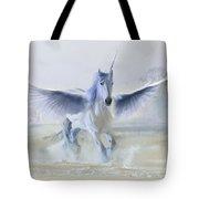 Winter Unicorn Tote Bag