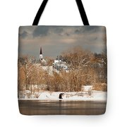 Winter View Of Allenstown Tote Bag