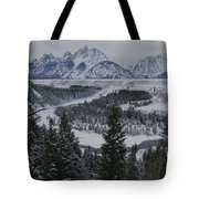 Winter View Of The Snake River, Grand Tote Bag