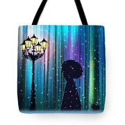 Winter Walk In The Magical Forest Tote Bag