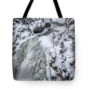 Winter Waterfall Tote Bag