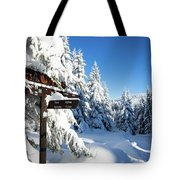 winter way in the Upper Harz Tote Bag