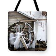 Winter Wheel Tote Bag