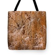 Winter Willow Branches Tote Bag
