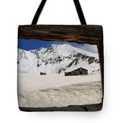 Winter Window View Tote Bag